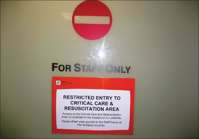 Figure 6: Signages and restricted entry points are important especially during outbreaks