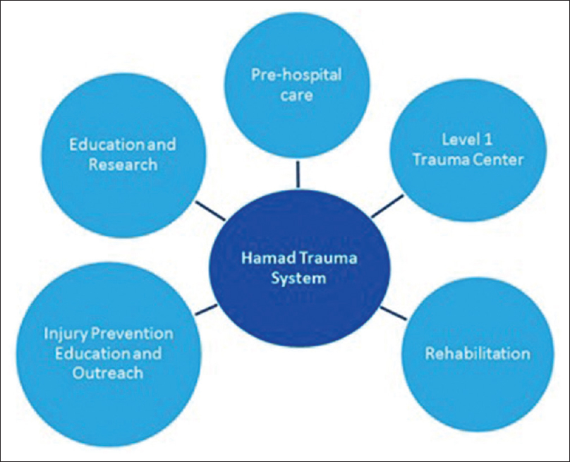 Figure 2: Components of Hamad Trauma System